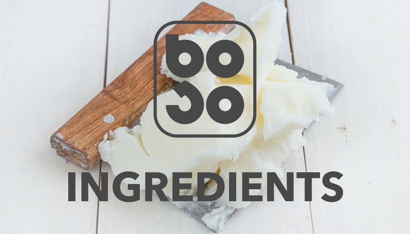 BOSO logo on top of a image of cutted coconut oil
